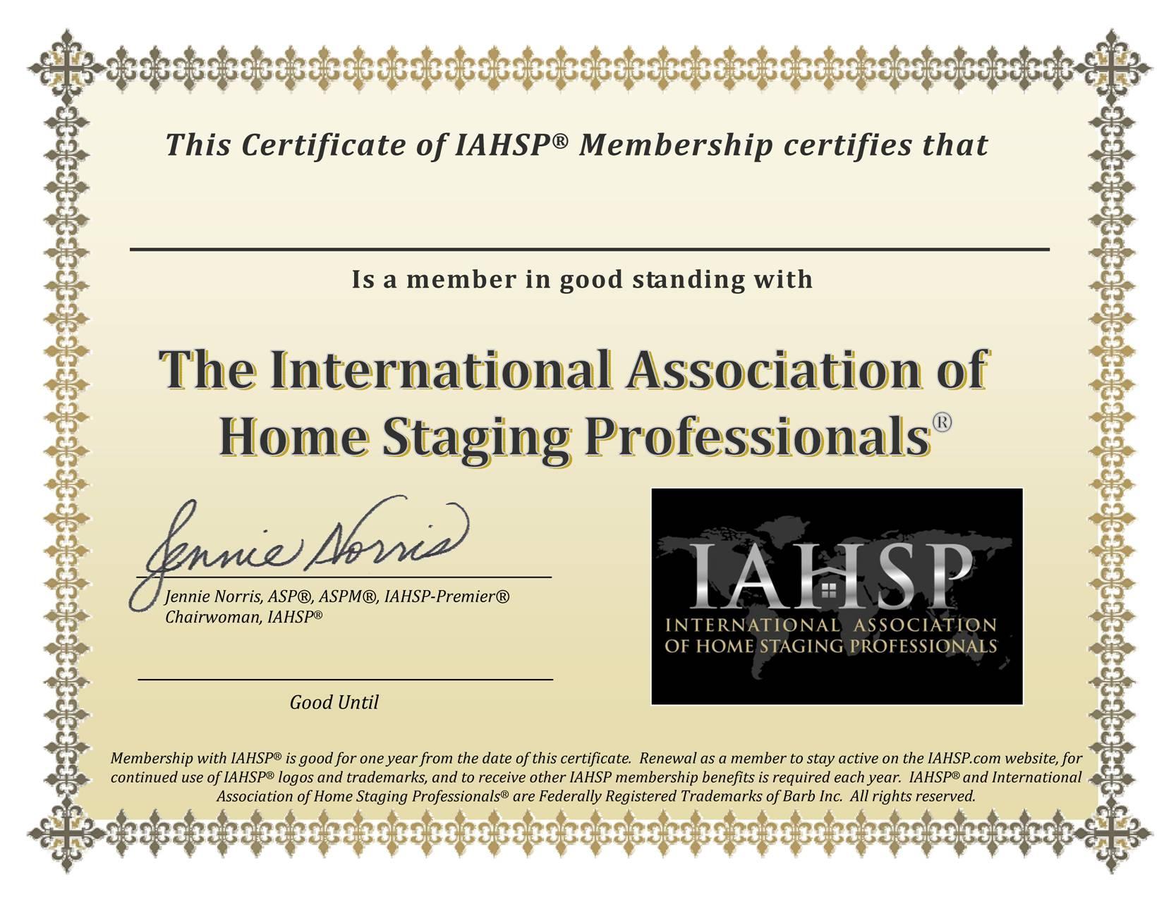 IAHSP MEMBER Cert low res